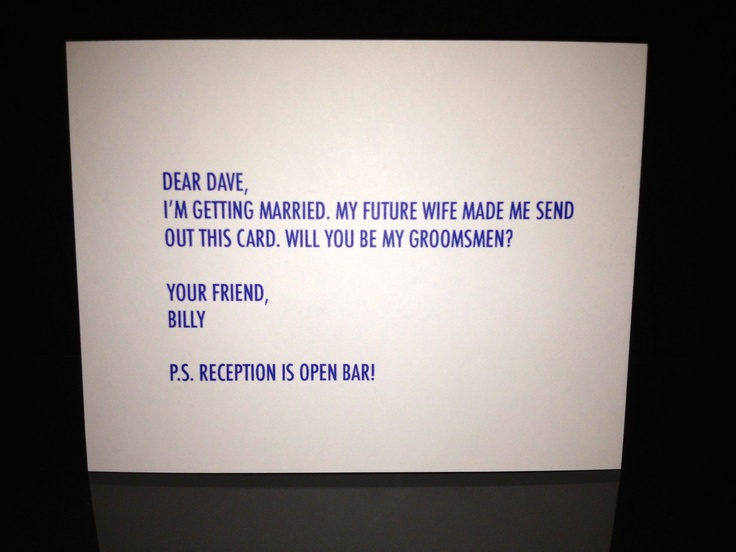 letters to your grooms men