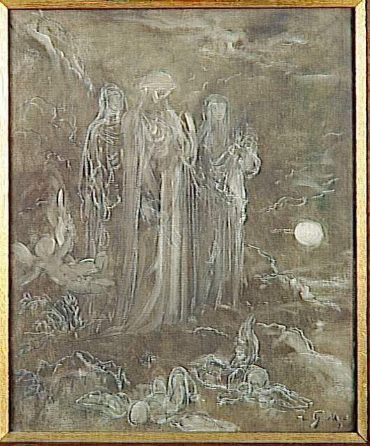 Gustave Moreau (1826-1898) - Les Parques - peinture