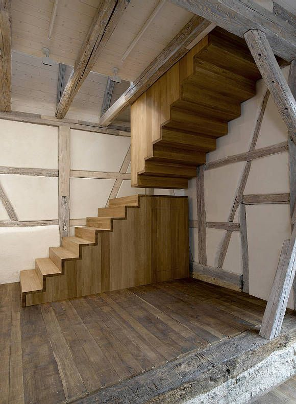 A 17th century barn conversation in Waiblingen, Germany, Atelier S is a studio and exhibition space.