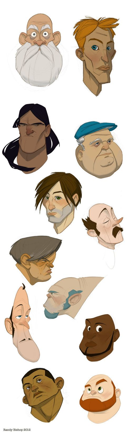 faces by ~randybishopart on deviantART