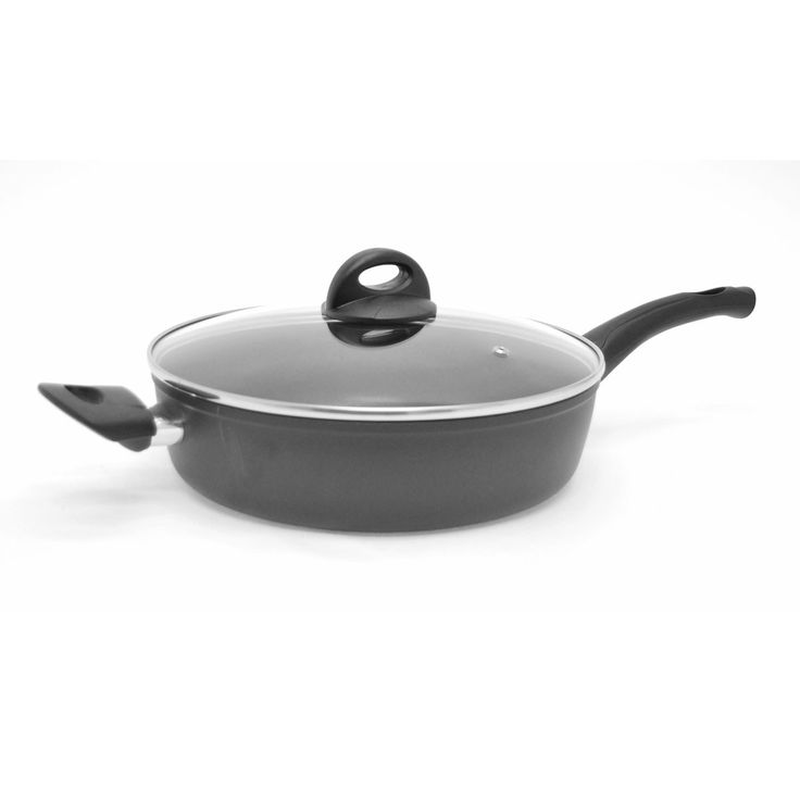 "Starfrit La Forge Aroma - 4qt / 11"" (28cm) Forged Aluminum Non-Stick Deep Fry Pan with Lid www.starfrit.com"
