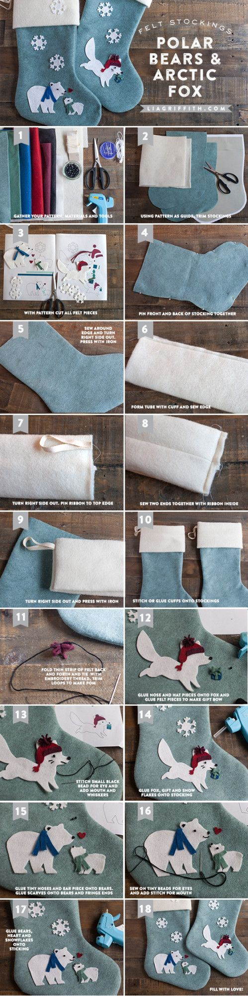 diy felt stocking tutorial