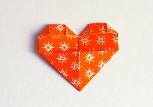 Heart-shaped page marker origami | How About Orange...Something cute to pop in the post!