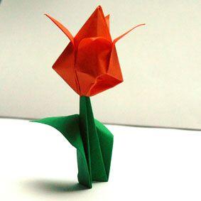 Papier Tulpe mit Stengel