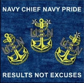 Navy Chief Pride Logo Rug - for the Chiefs office