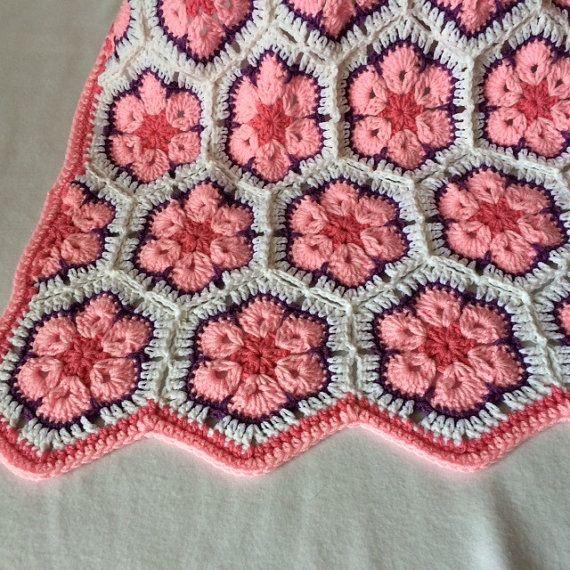 Baby meisje/peuter/kind gehaakte deken Afrikaanse door LupineCrochet