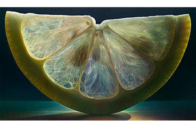 Permalink to image of Dennis Wojtkieviczs atemberaubende Makro-Gemälde von Früchten