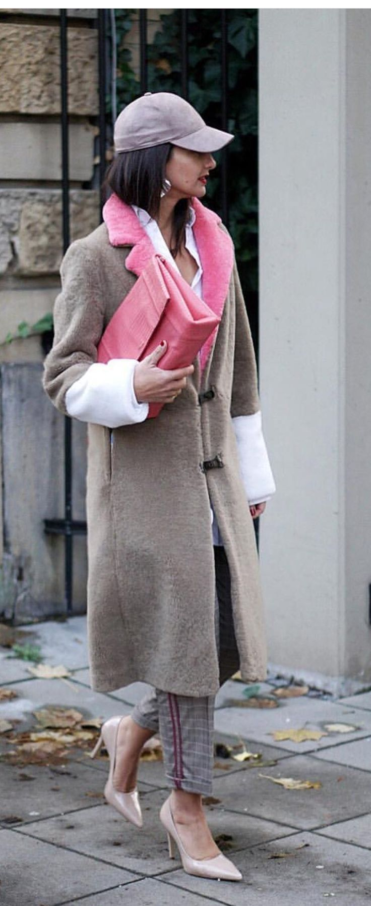 nude and pink #streetstyle