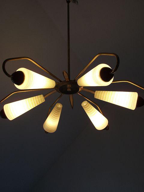 1950s 1960s MID-CENTURY MODERN ceiling lamp light EAMES NELSON era    107