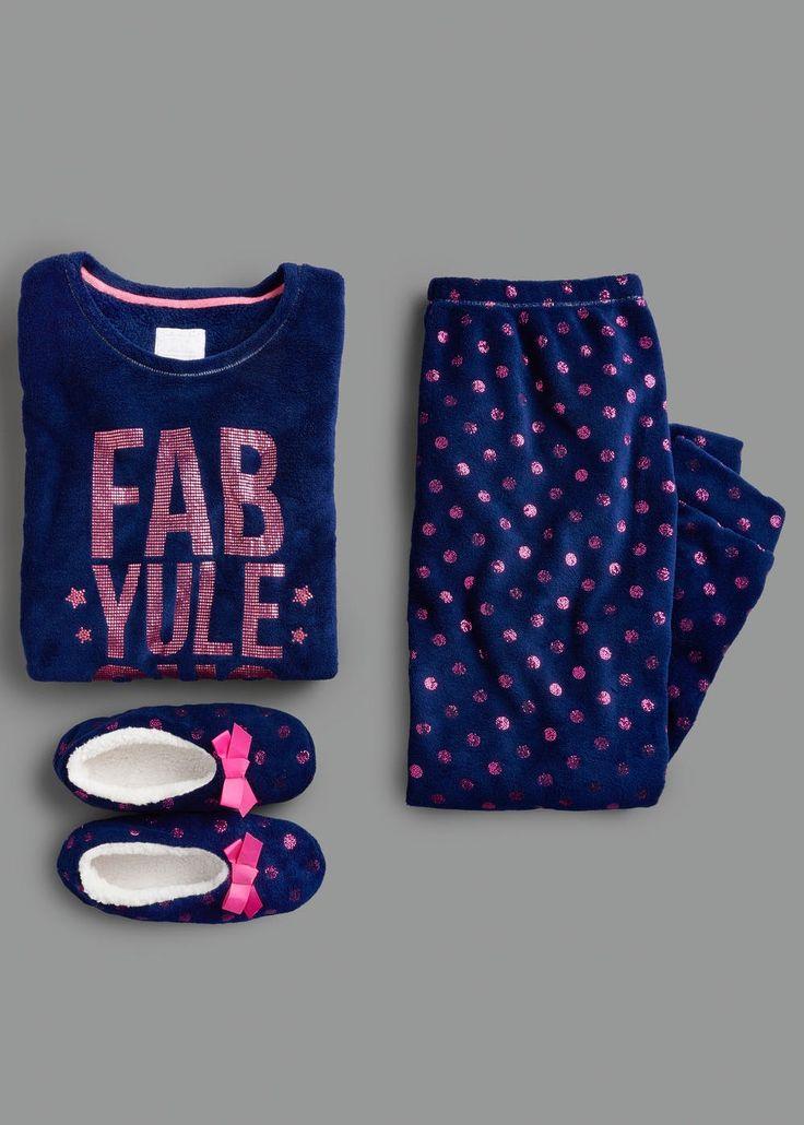 Foil Fab Pyjama & Slippers Gift Set