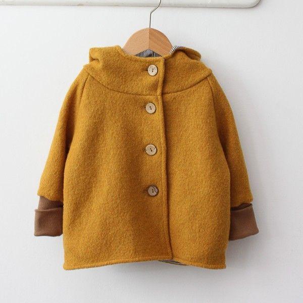 Wollwichteljacke Curry (Diy Baby Clothes)