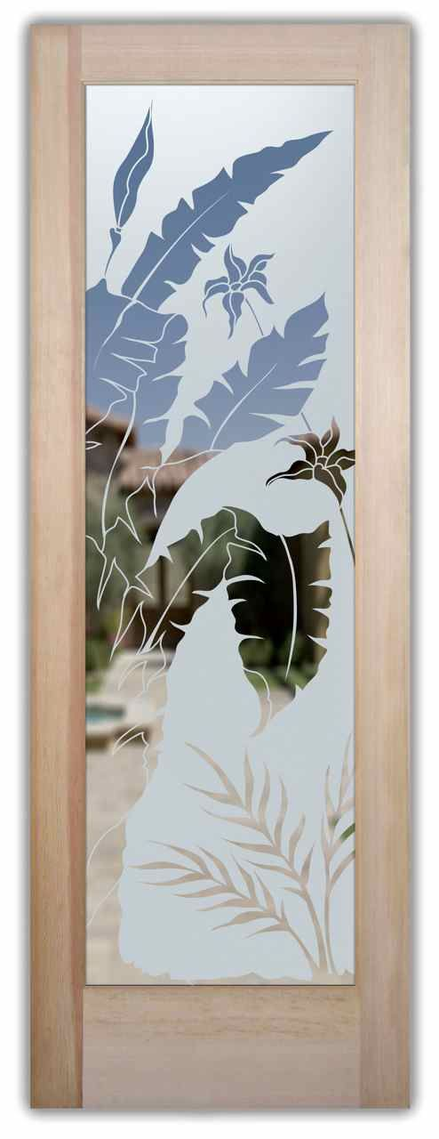 etched glass tropical