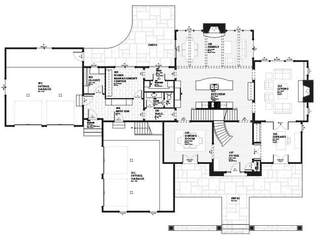 128 best house plans images on pinterest floor plans for Lucky 4 ranch floor plan