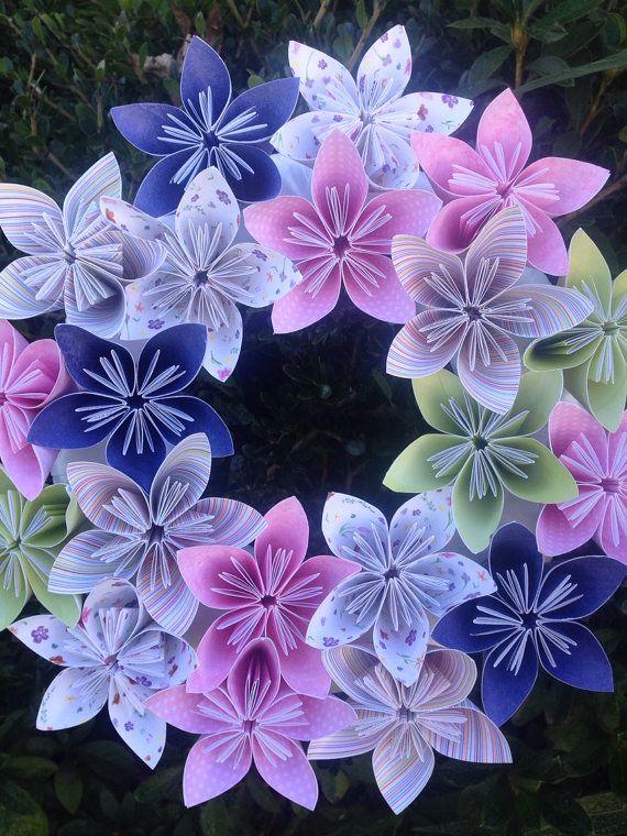 Origami Papier Blumen Kranz 10/ / Hochzeit / von kreationsbykia