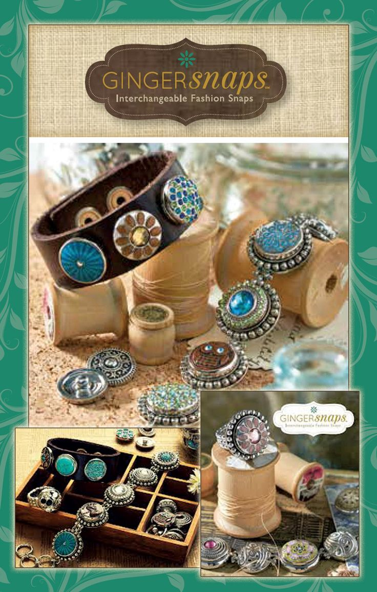 Ginger Snaps - Interchangeable jewelry line Available at https://www.facebook.com/fromtheheartcullman