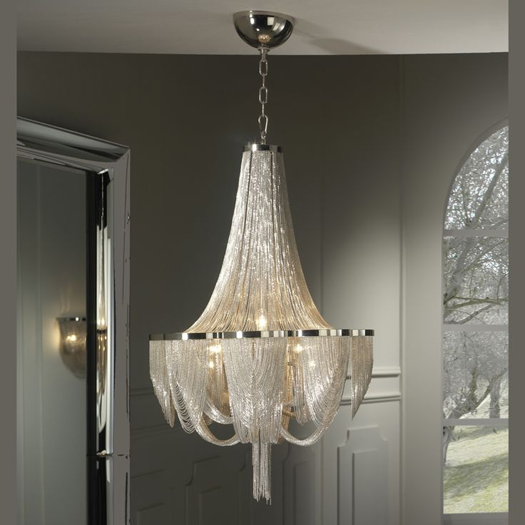Chain And Nickel Chandelier