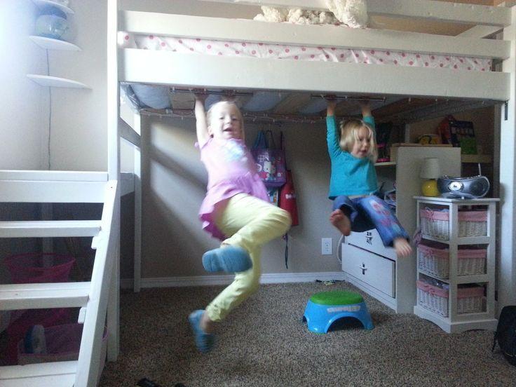 loft bed - DIY LOFT BED FOR LESS THAN $100