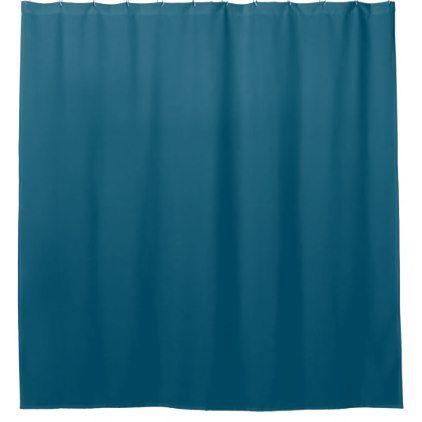 Oceanside Blue-Green Shower Curtain - shower curtains home decor custom idea personalize bathroom