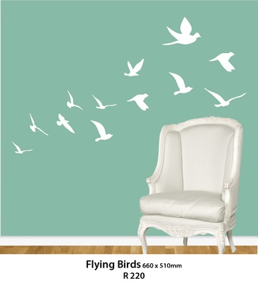 Pinkorangedesigns  wall sticker: Flying Birds, Interiors, Stickers Totally, Black Birds, Wall Stickers