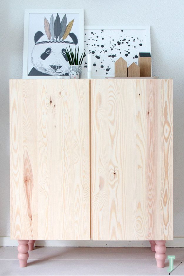Ikea 'Ivar' cabinet with pink Pretty Pegs