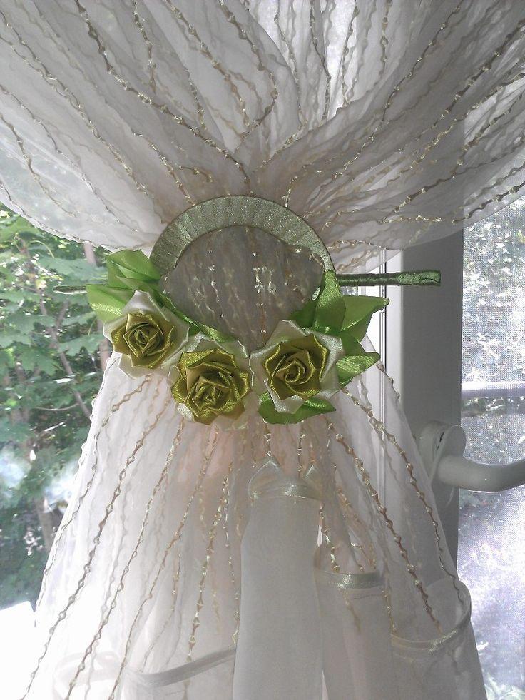Kanzashi sujetador de cortina