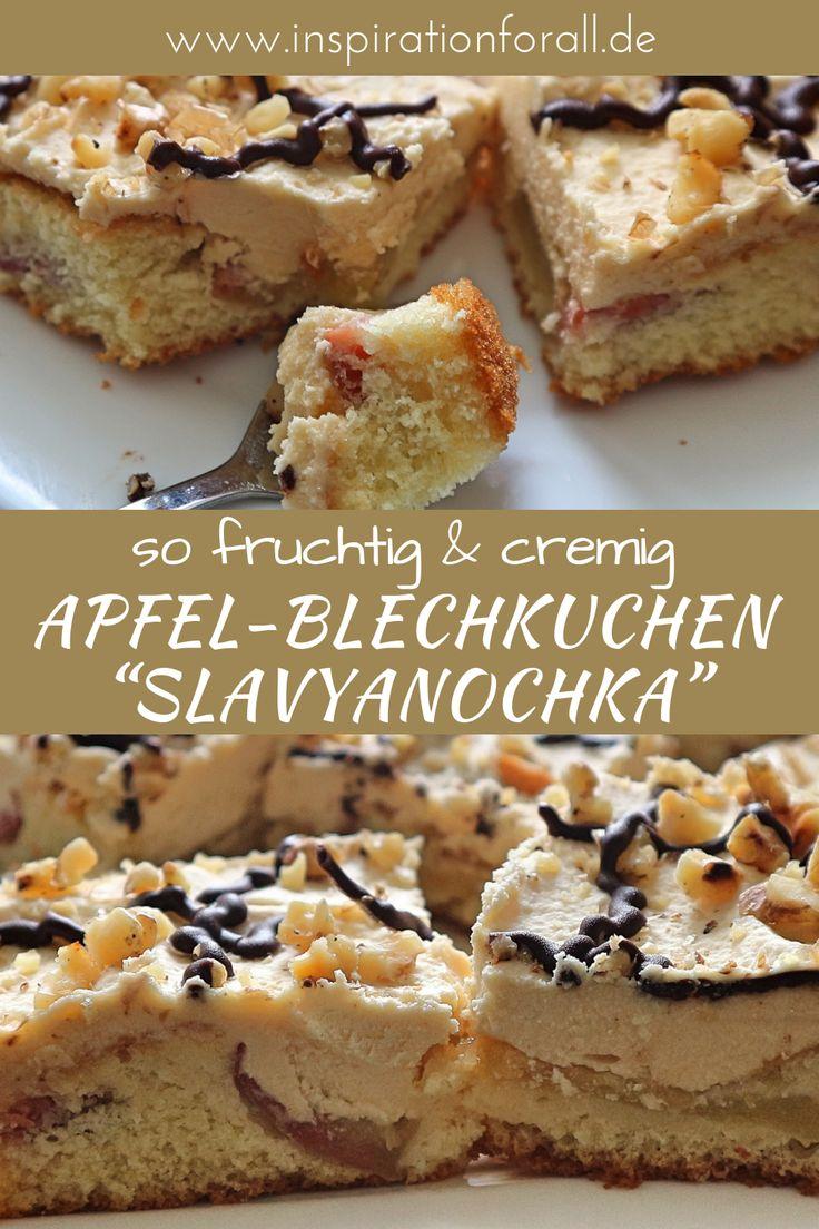 """""""Slavyanochka"""" – Rezept für köstlichen Apfel-Blechkuchen """"Slowenierin"""" – Leckere Rezepte von inspirationforall.de – einfach, schnell, besonders"""