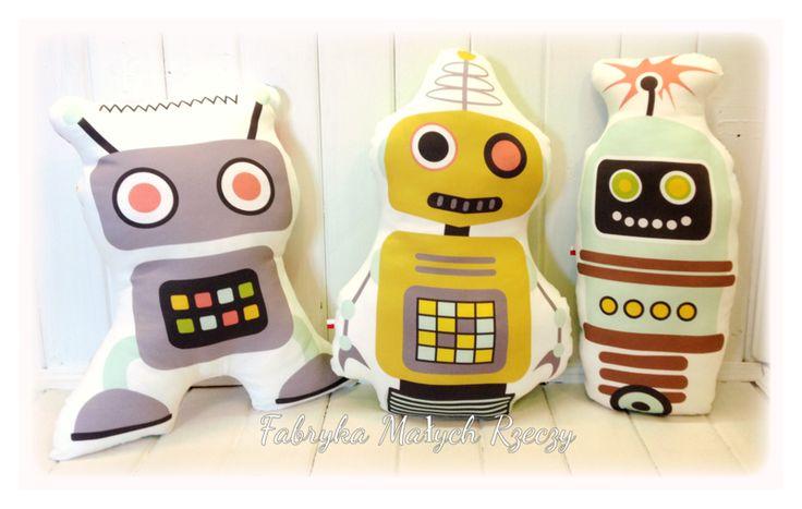 Absolutnie Autorskie Poduchy Roboty !!!! - Fabryka-Malych-Rzeczy - Poduszki dla dzieci