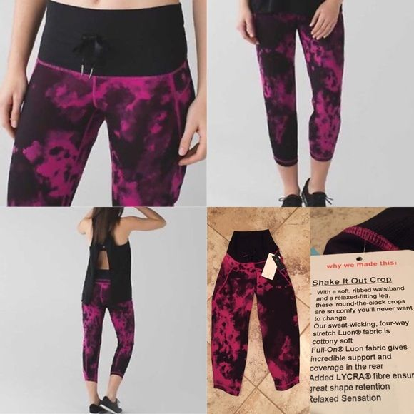 TODAY ONLY $70! NEW LULULEMON SHAKE IT OUT CROP SHAKE IT OUT CROP PANT -Soft and ribbed waistband  -Relaxed-fitting legNO OFFERS SHIPS TOMORROW lululemon athletica Pants