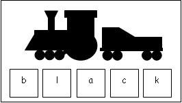 """Click on """"emergent readers listing printables for books"""" you get a listing of books in alphabetical order.  Each book has its own list of activities.  The one shown here goes with """"Freight Train.""""  Great compliment to any letter of the week activities you use."""