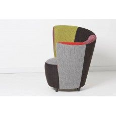MULTI LHF Multi Fabric Curve Chair Left Hand Facing From £349