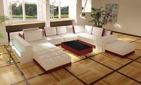 Blanc / rouge coupe salon canapé moderne en cuir italien de Grain supérieur Foshan A1125