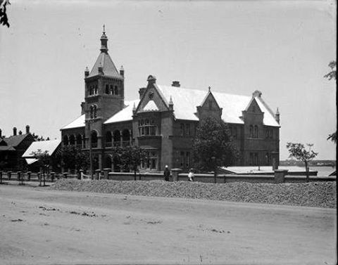 Christian Brothers' College, St George's Tce, where Concert Hall now sits, 1900s.