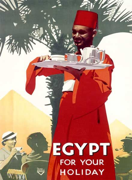 I thought we could have a chuckle..Check out this -  Vintage Egypt Holiday Travel Poster