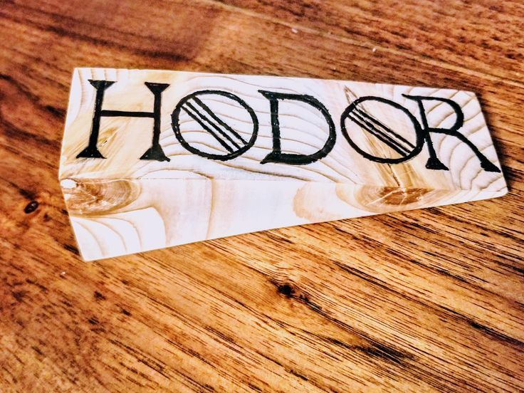 Hodor! Click to see the DIY for this and projects like it! #DIY #woodworking #pr…