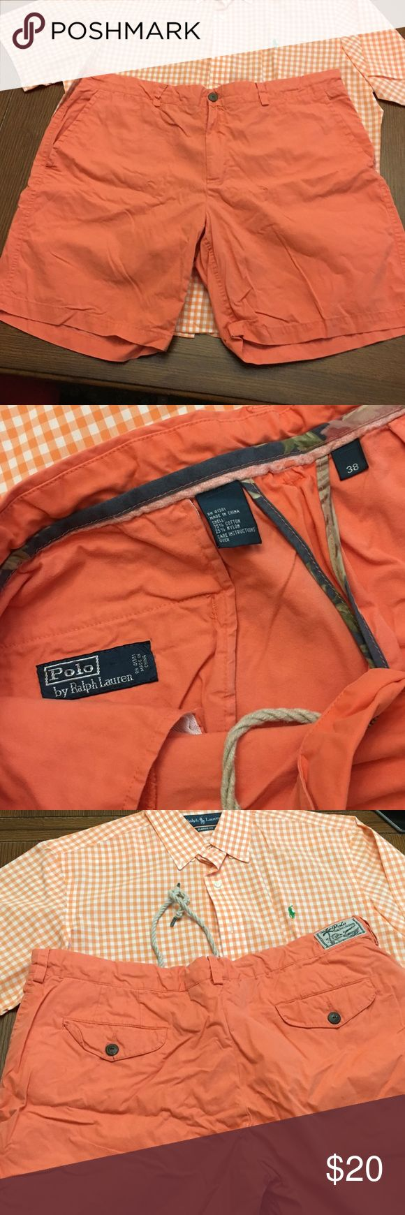 $🔽 Polo by Ralph Laurn Summer - orange 🔽PRICE DROP🔽 Polo by Ralph Laurn Summer - orange with drawstring waist. Worn once. 🎉💵BUNDLE AND SAVE 15%💵🎉 Polo by Ralph Lauren Shorts Flat Front