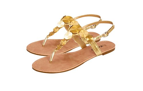 Gold Kelso Sandals