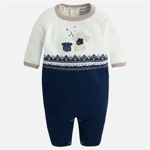 Mayoral Erkek Bebek Kışlık Triko Örme Tulum Koyu Mavi