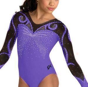 GK Elite Purple Swirls Competition Leotard - Celebrities who wear ...