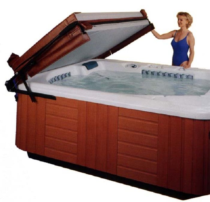 Hot Tub Cover Lift for Adding Unique Style to Spa Area with ...