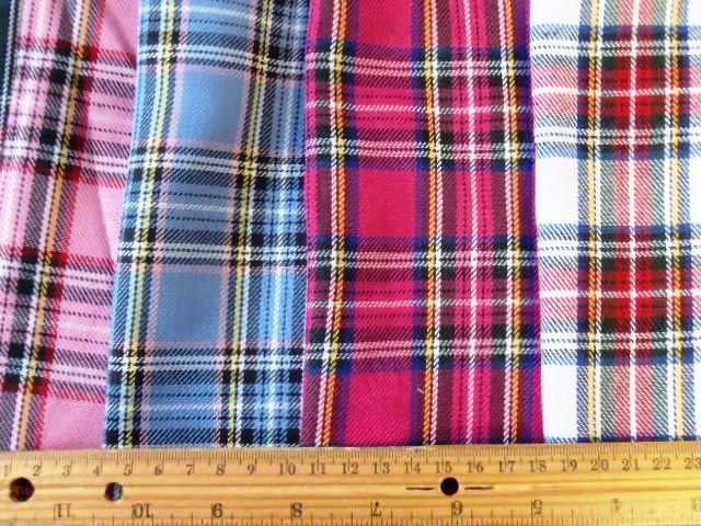 Polyester Tartan Suiting Fabric