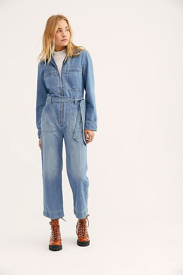 f5036dec7e06 Charlie Coveralls - Jean Long Sleeve Zip Front Coveralls - Jean Jumpsuit -  Long Sleeve Jumpsuits - Denim Jumpsuits