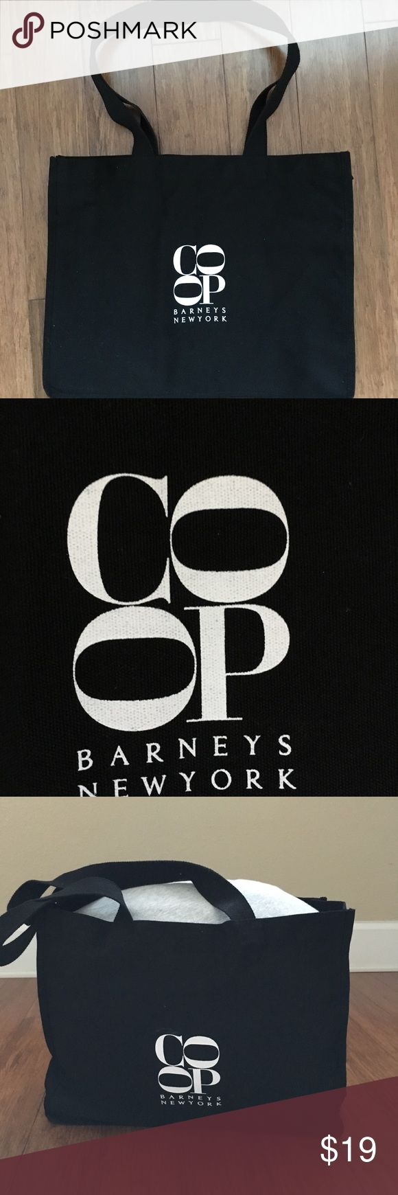 """Barney's New York Canvas Shopping Bag ⭐️ Black Canvas tote from Barney's Co-Op.  ⭐️ Approximate measurements: 16x12x6"""". ⭐️ Strap drop: 12"""" ⭐️ Always thoughtfully wrapped & ready to be shipped the day of purchase. Barneys New York CO-OP Bags Totes"""