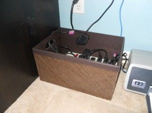 great way to hide electrical cords.