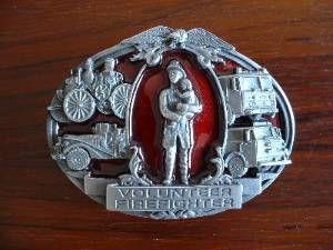 Feuerwehr fire-fighter - Gürtelschnallen Buckles orig. amerikanische und englische aus Zinnguss