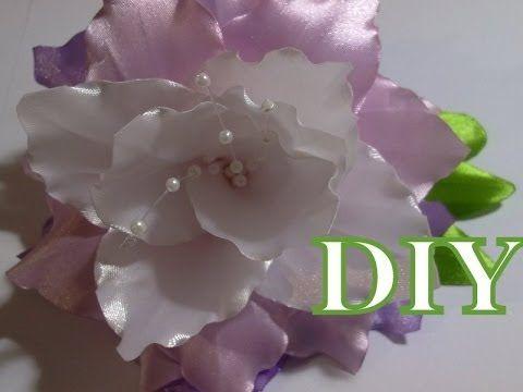 Белая лилия. Цветы из ткани. Часть 1 - YouTube