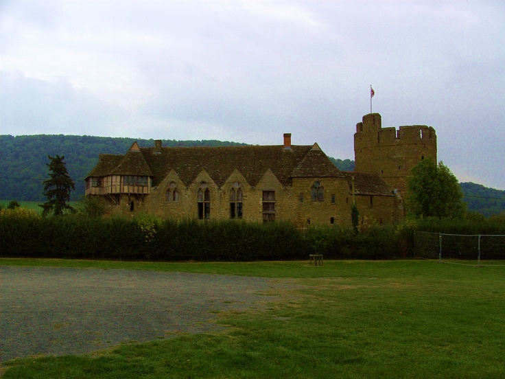 Stokesay Castle.  This is the oddest castle I've seen.  There is a round tower on one and and a house jutting out of the upper floor at the other end with the middle looking like a church with it's arched windows.