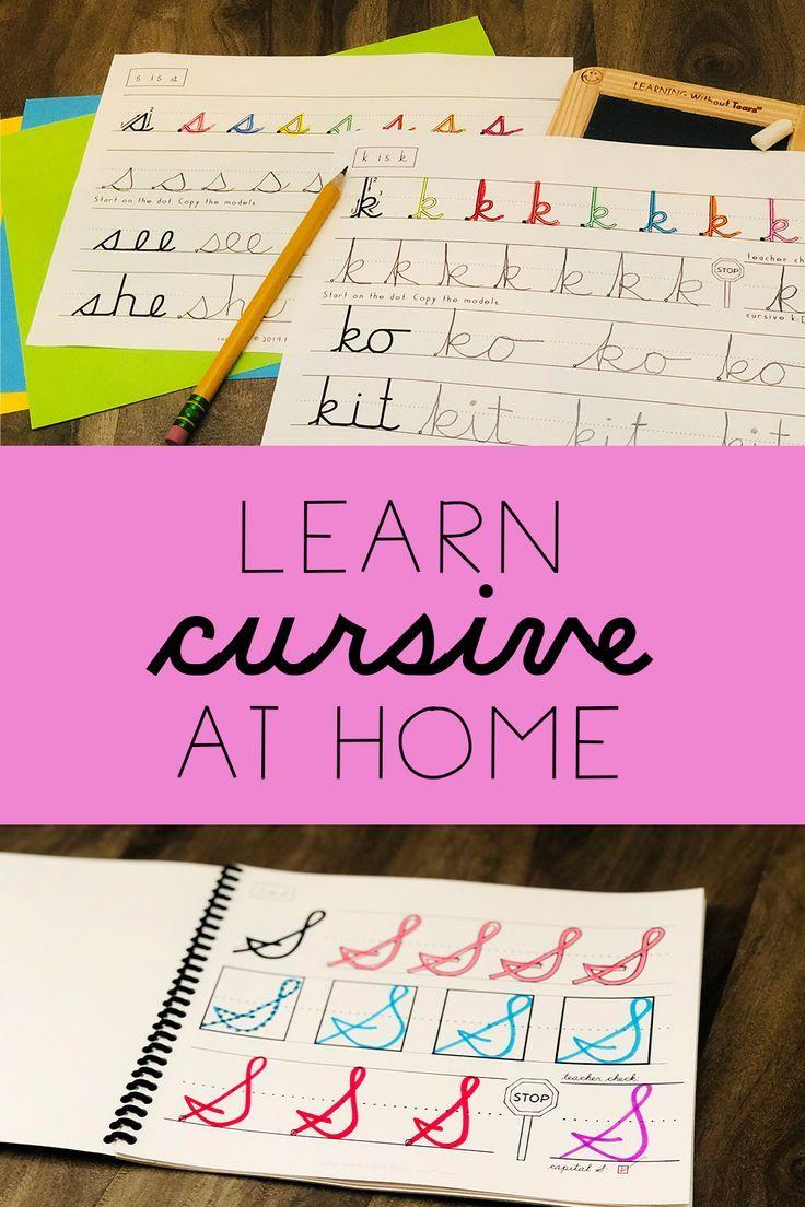 DIY cursive lessons for beginners   Teaching cursive [ 1104 x 736 Pixel ]