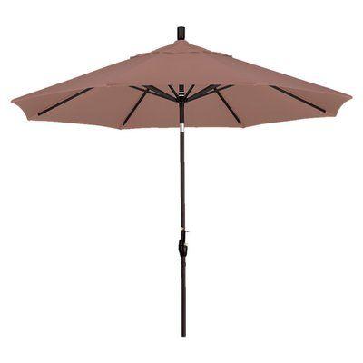 California Umbrella 9' Callista Indoor/Outdoor Market Umbrella Color: Straw