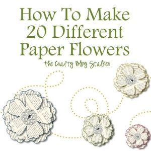 Paper Flower to make out of the book pages