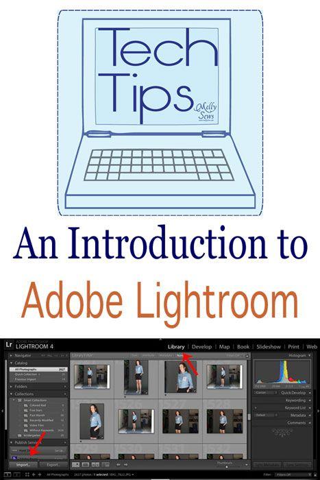 Tech Tips - a Lightroom Primer - Melly Sews